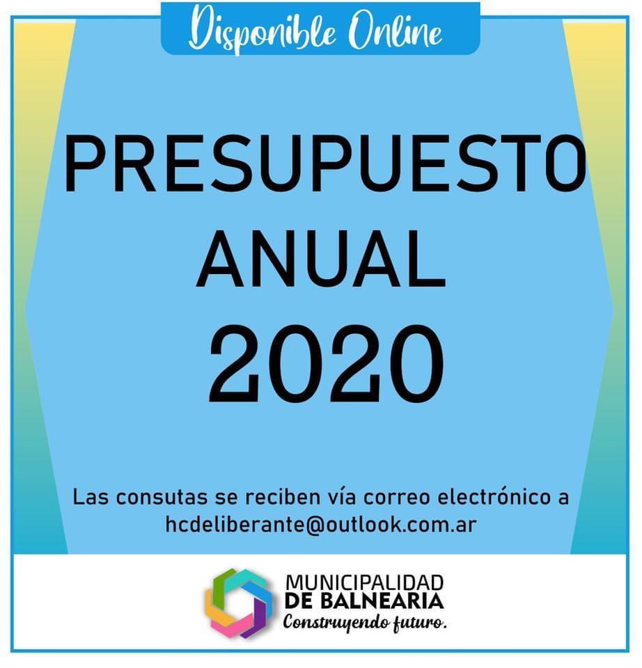 Presupuesto Municipal 2020.